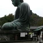 profil du Grand Bouddha de Kamakura, Japon