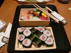 Bento de sushi à la Kyoto Station