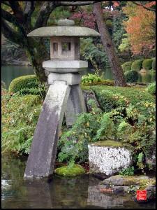 lanterne au jardin de Kenroku-en Japon