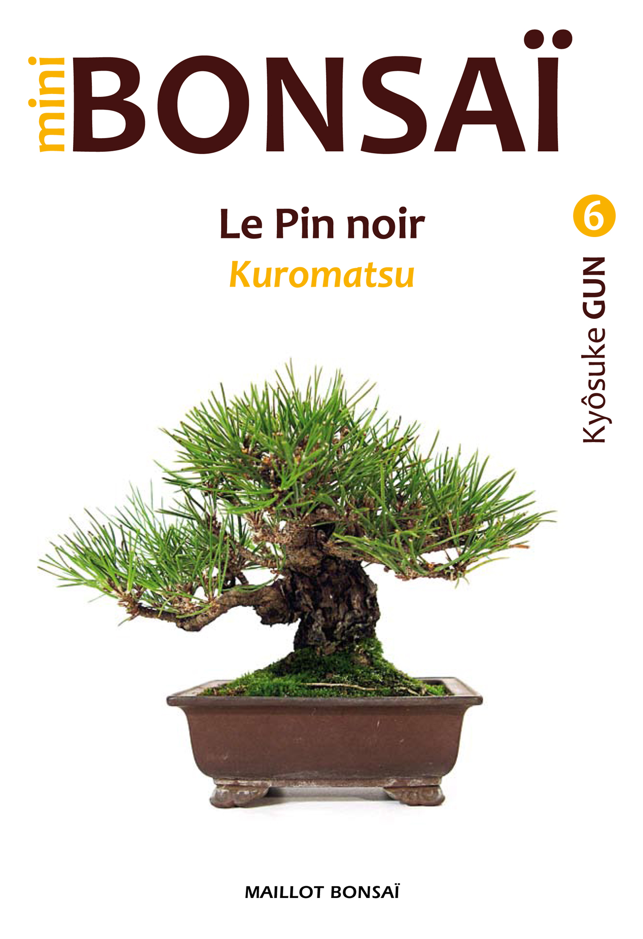 livre sur les mini bonsai de pin noir par Kyosuke Gun